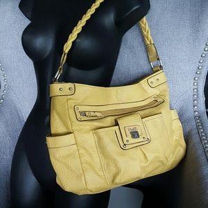 Yellow Gold Handbag, numerous pockets!